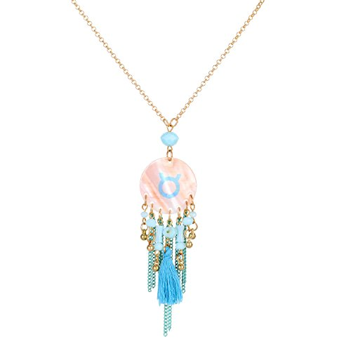 zhenhui-12-constellation-sign-pendant-necklace-zodiac-sign-tag-disc-shells-charm-choker-necklace-tau