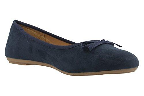 FITTERS FOOTWEAR - Helen - Damen Ballerinas - Blau Schuhe in Übergrößen