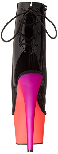 Bout Multicolore Multi Rainbow Pat Sandales Femme neon Pleaser Ouvert blk 1018uv7 YtqSggT