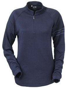 Adidas Ladies' ClimaWarm 1/4-Zip Training Top, Navy, XX-Large