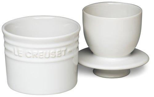 Le Creuset Stoneware Butter Crock, 6-Ounce, White by Le Creuset (Image #1)