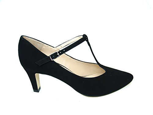 Suede 35 GENNIA Leather Pumps Size T Toe Closed Leather bar Women´s Black IRANY fqOzfw7