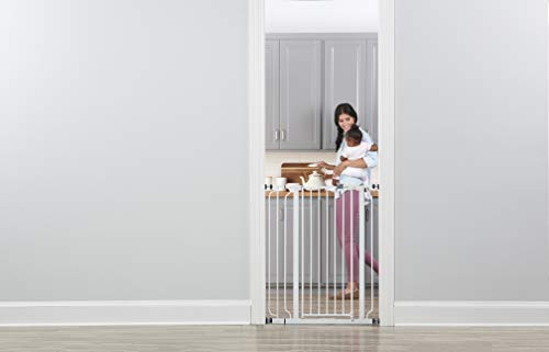 Large Product Image of Regalo Easy Step Extra Tall Walk Thru Gate, Includes 6-Inch Extension Kit, 4 Pack of Pressure Mount Kit and 4 Pack of Wall Mount Kit