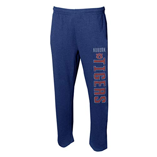 Concepts Sport Men's NCAA Vintage Retro-Squeeze Play-Pajama Pants-Heathered-Auburn Tigers-Navy-Large College Concepts Cotton Pajama Bottoms