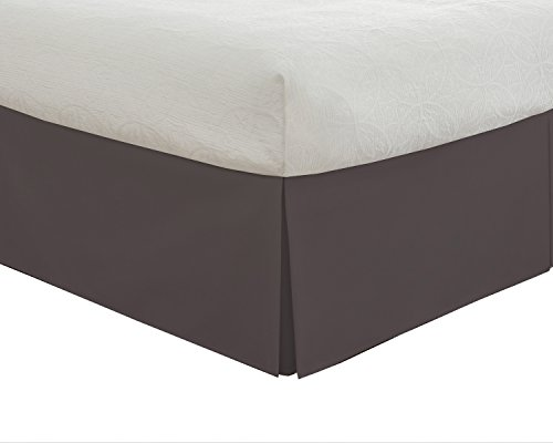 "Lux Hotel Bedding Tailored Bed Skirt, Classic 14"" Drop Length, Pleated Styling, Twin, Grey by Lux Hotel"