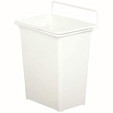 Knape & Vogt White 13 in. H x 10 in. W x 7 in. D Plastic in-Cabinet Door  Mount Trash Can