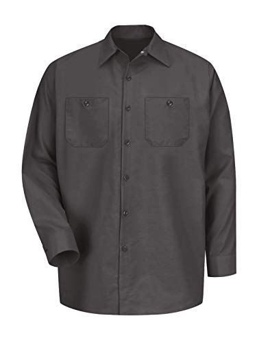 - Red Kap Long Sleeve Industrial Solid Work Shirt Charcoal X-Large - 2 Pack