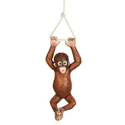 Design Toscano Pongo, the Hanging Baby Orangutan Statue