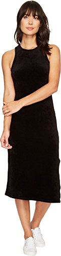 Juicy Couture Black Label Women's Stretch Velour Fitted Tank Dress, Pitch, XS