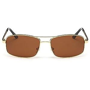 LIKEOY Men's Polarized Driving Sunglasses Rectangular Lenses 100% UV protection A3