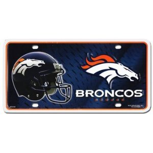 Rico NFL Denver Broncos Metal License Plate Tag