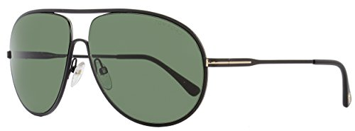 TOM FORD Men's Cliff TF450 02N Matte Black Green Aviator Sunglasses - Tom Ford Male