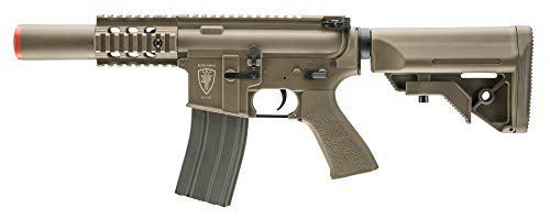 Elite Force M4 AEG Automatic 6mm BB Rifle Airsoft Gun, CQC, FDE (Best Starter Aeg Airsoft Gun)