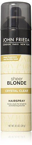 Spray Blonde Hair (John Frieda Sheer Blonde Crystal Clear Hairspray, 8.5)