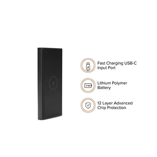 Mi Wireless Power Bank 10000mAh (Black, with Type-C Support, 18W Fast Charging) 2021 June It will charge a 3000mAh phone battery 2 times And It will charge a 4000mAh phone battery 1.5 times Output: Wireless output : 10W (Max), Single USB output 5V2.4A 18 Watts Fast Charge Body : Plastic | Weight : 230 grams