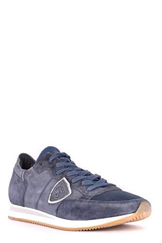 Philippe Model Bleu Suède Baskets MCBI238096O Homme HBwqH1
