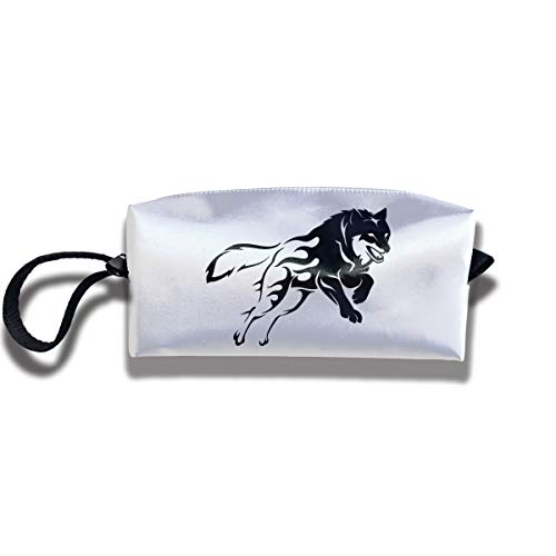 Cosmetic Bags With Zipper Makeup Bag Express Yourself Wolf Middle Wallet Hangbag Wristlet -
