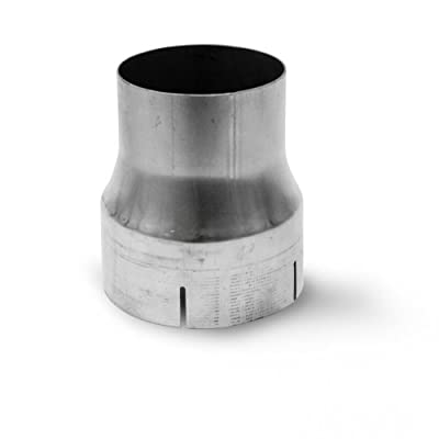 """MBRP UA9004 4"""" I.D. to 5"""" I.D. 7"""" Length T409 Stainless Steel Exhaust Adapter"""