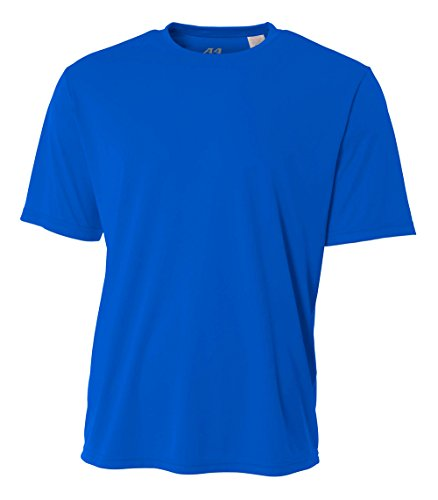 (A4 Men's Cooling Performance Crew Short Sleeve T-Shirt, Royal, Medium)
