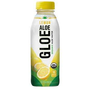 Aloe Gloe Organic Aloe Water, Lemon, 15.2-Ounce (Pack of 12) ()