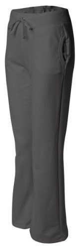 Gildan womens Heavy Blend 8 oz. 50/50 Open-Bottom Sweatpants(G184FL)-CHARCOAL-M ()