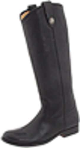 FRYE Women's Melissa Button Boot, Black Soft Vintage Leather, 8.5 M US