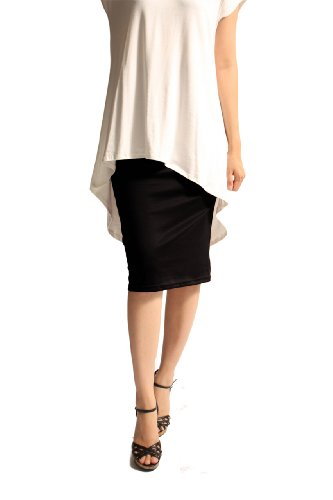 82 Days Women's Ponte Roma From Office Wear To Below Knee Pencil Skirt