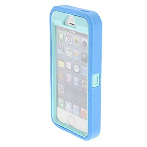 Silicone Protective Splash Proof Plastic Case Cover for iPhone 5/5S(Assorted Color) --- COLOR:White