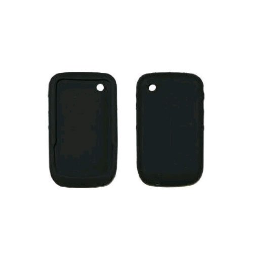 Black Soft Silicone Gel Skin Cover Case for BlackBerry Curve 8520 (Silicone Skin Cover Curve)