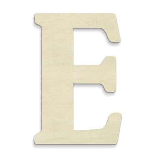 UNFINISHEDWOODCO Unfinished Wood Letter, 15-Inch, Monogrammed E, Large
