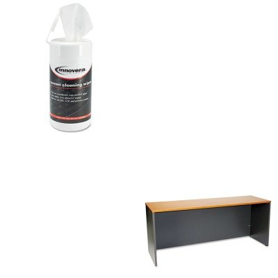 72 Bushes (KITBSHWC72426IVR51510 - Value Kit - Bush 72amp;quot; W Credenza Shell Series C Natural Cherry (BSHWC72426) and Innovera Screen Cleaning Pop-Up Wipes (IVR51510))