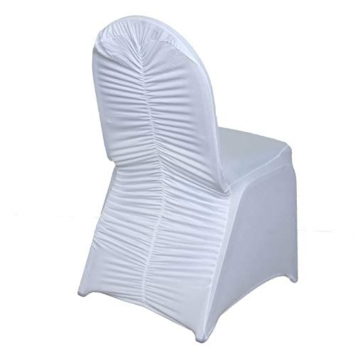 Mikash 25 Chair Covers Milan Style Spandex Wedding Party Banquet Decorations | Model WDDNGDCRTN - 20572 | ()