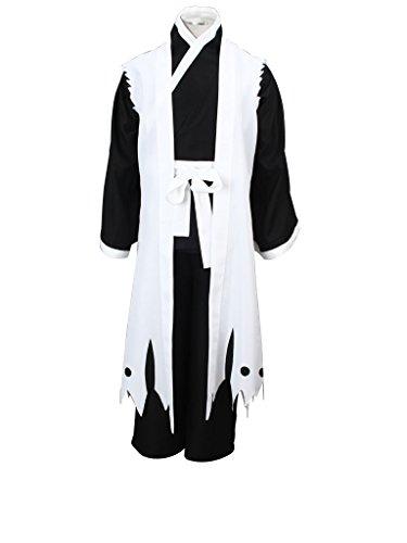 Mtxc Men's Bleach Cosplay Zaraki Kenpachi 3rd Squad Eleven Uniform Simplify Ver Size XX-Large White