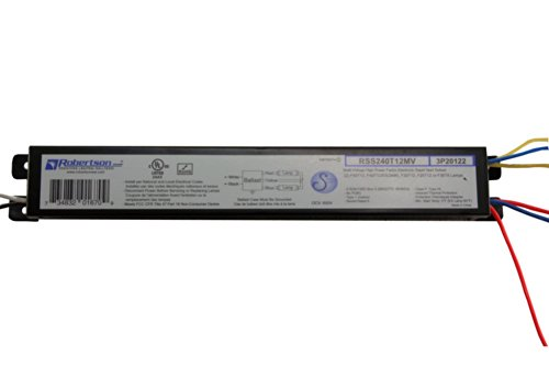 ROBERTSON 3P20122 RSS240T12MV /A Fluorescent eBallast for 2 F40T12 Linear Lamp, Rapid Start, 120-277Vac, 50-60Hz, Normal Ballast Factor, HPF (Successor to ROBERTSON 000791 RSS240T12MVIP)