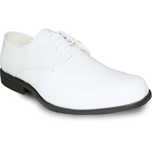 JEAN YVES Dress Shoe JY01 Classic Tuxedo for Wedding, Prom and Formal Event White Patent 12W by Jean Yves