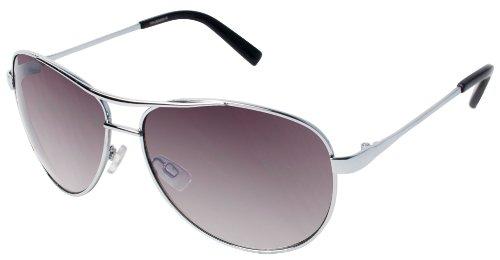 Jessica Simpson Womens Metal Aviator Sunglasses One Size Silver