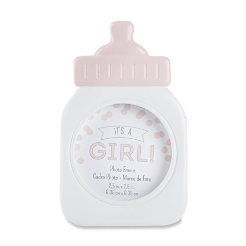 Kate Aspen It's a Girl Traditional Baby Bottle Frame, Pink