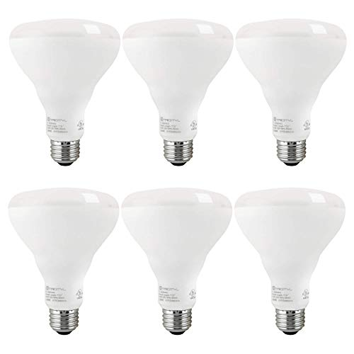 BR30 LED Flood Light Bulb, 9.5 Watt (65w Equivalent), Dimmable, 670 Lumens, 5000k Daylight, E26 Medium Base, Energy Star (6 Pack)