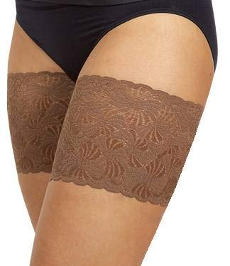 - Bandelettes Elastic Anti-Chafing Thigh Bands - Prevent Thigh Chafing - Chocolate, Size B