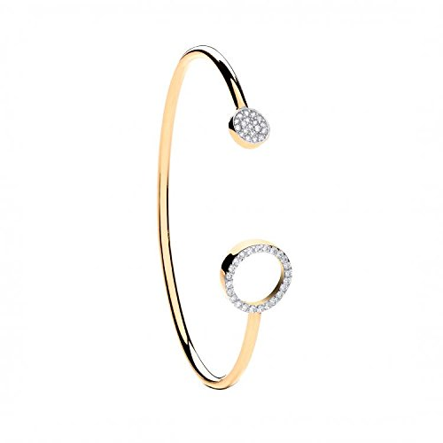 9ct or jaune CZ Couple bébé Bracelet 5.2G