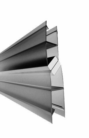 Guarnizione magnetica / Guarnizione magnetica per doccia così come pareti divisorie di 6-8 mm / (Lungo 185 cm ) / Guarnizione per doccia Doccia Doccia schermo Divisorio doccia Cabina doccia Home-Systeme