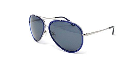 Salvatore Ferragamo Mens Designer Non-Polarized Aviator Sunglasses Blue