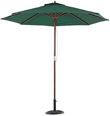 IKAYAA 2.7M Parasol de Jardín Patio Paraguas al Aire Libre Parasol ...