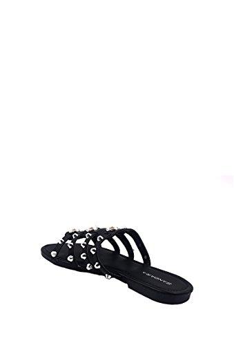 NANA Claquettes Clous Spartiate Sandales Slip Femme Noir on CHIC Mules gwqdqX6