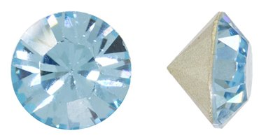Swarovski Elements Crystal Aquamarine Chatons (Ss24, Approx. 5mm, Xillion Round Cut)