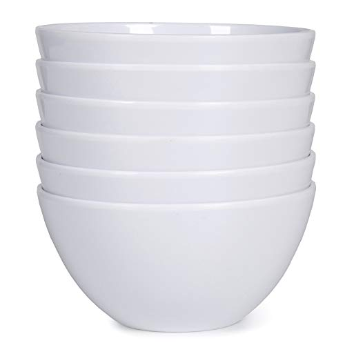 s set - 6pcs 20oz White Soup Bowls for Daily Use, Dishwasher Safe, Breat-resistant ()