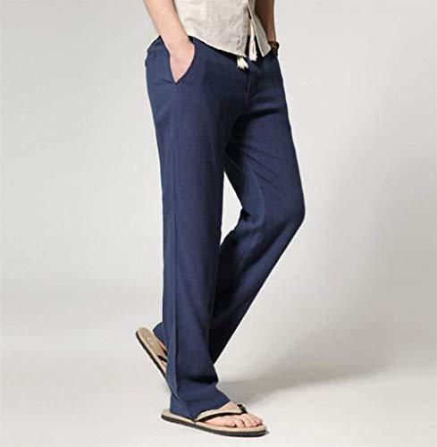 Vrac Couleurs Vêtements Marineblau Hommes Garçons Pantalons Longs De Casual Lin D'été En 3 Unies Droits Bermudes Fête Et aBw7zqYw