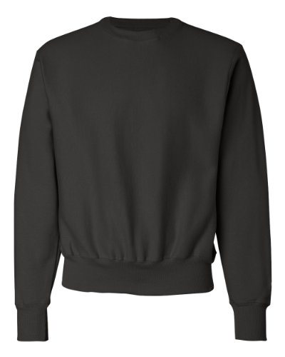 Champion Adult Reverse Weave Crew (Black) (M)
