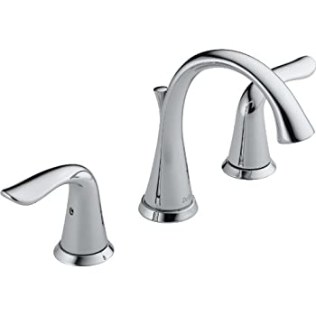 Delta Faucet 3538 MPU DST Lahara Two Handle Widespread Bathroom Faucet,  Chrome