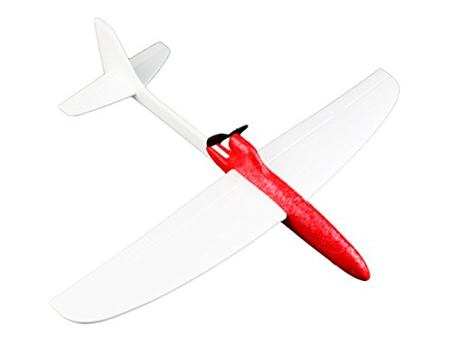 TSAAGAN Superduty and Superflex Creative DIY Airplane Foam Glider Plane Model Educational Toy for Kids Red - Foam Glider